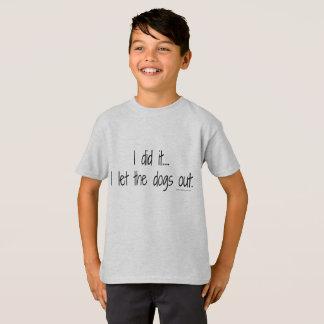 T-shirt I de l'enfant il a piqué