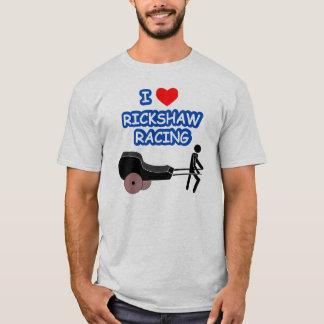 T-shirt I EMBALLAGE de RICKSHAW de coeur