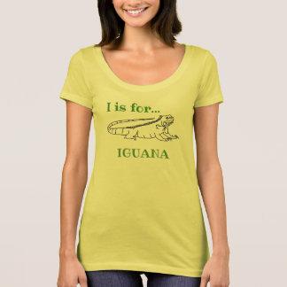 T-shirt I est pour l'iguane