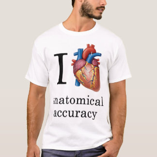 T-shirt I exactitude anatomique de coeur