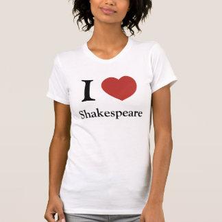T-shirt I femelle de Shakespeare de coeur