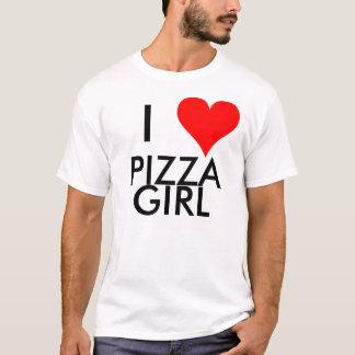 T-shirt I fille de pizza de coeur