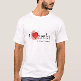 T-shirt I glucides de coeur - et eux coeur je de retour !