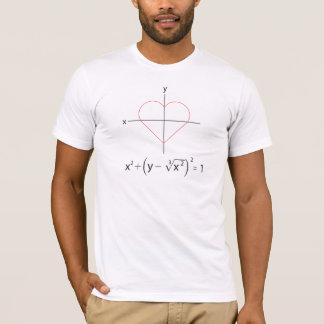 T-shirt I graphique de maths de coeur