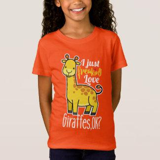 T-Shirt I juste girafes Freaking d'amour correct ? Amant