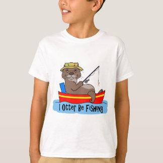 T-shirt I la loutre pêche