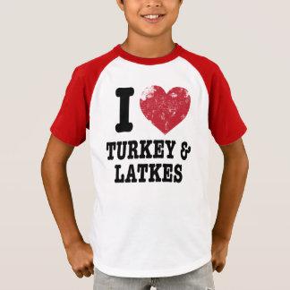 T-shirt I Latkes de dindes de coeur