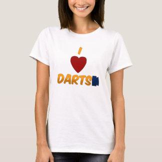 T-shirt I le coeur darde le Babydoll de dames