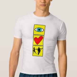 T-shirt i l'ouest love coast swing/dance