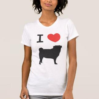 T-shirt I love Pugs