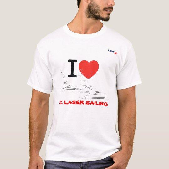 T-shirt I love RC laser Sailing