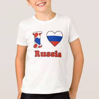 T-shirt I love Russia