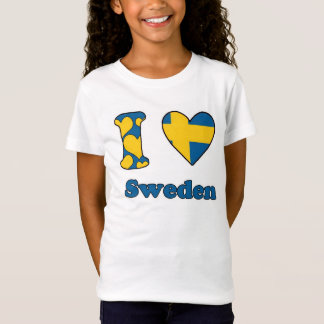 T-Shirt I love Sweden