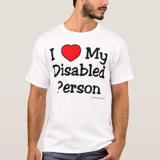 T-shirt I Luv mon handicapé (lumière)