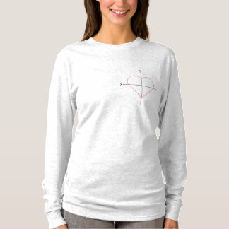 T-shirt I maths de coeur