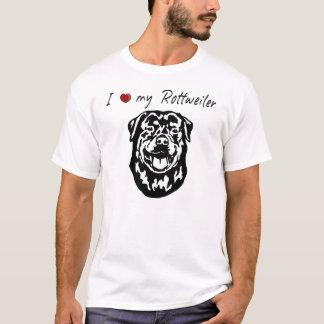 T-shirt ❤ I mes mots de rottweiler et beau graphique !