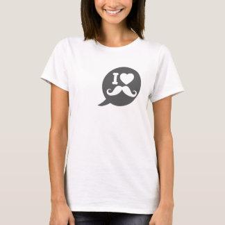 T-shirt I moustache de coeur