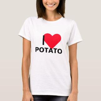T-shirt I pomme de terre de coeur