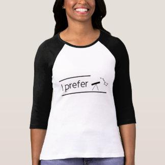 T-shirt I prefer astronomy