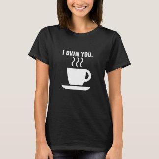 T-shirt i vous posséder conception mignonne de café
