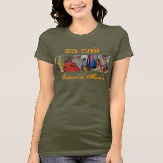 T-shirt Ibiza, festival de musique de l'Espagne - (w)