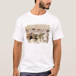 T-shirt Ici duc William va avec Harold au sien