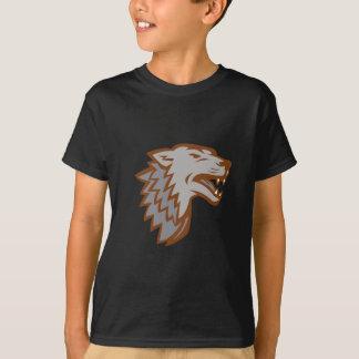 T-shirt Icône de loup gris d'écorcement