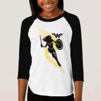 T-shirt Icône de silhouette de femme de merveille de la