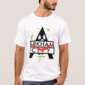 T-shirt Icône de ville d'Arkham avec les marques 2 de
