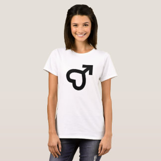 T-shirt Icône femelle de coeur