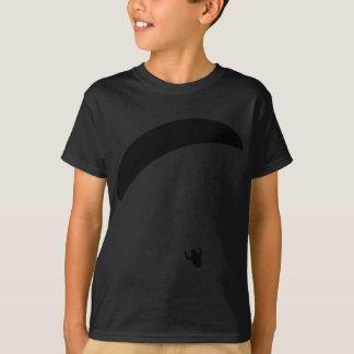 T-shirt icône noire de parapentisme
