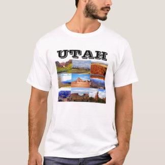 T-shirt Icônes de collage de paysage de l'Utah