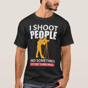 Génial photographe T-shirt Caméra SLR Lentille Haut Drôle Cadeau Anniversaire Cadeau