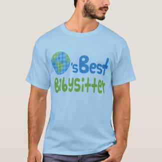 T-shirt Idée de cadeau pour la babysitter (mondes