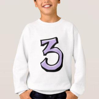 T-shirt idiot d'enfants de lavande du numéro 3