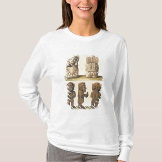 T-shirt Idoles aztèques, Mexique (lithographie de couleur)