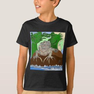 T-shirt Iguane sur une roche