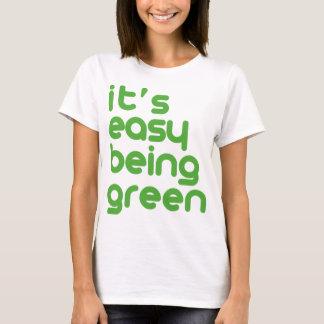 T-shirt Il est être facile vert