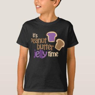 T-shirt Il est temps de gelée de beurre d'arachide