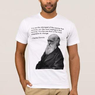 T-shirt Il n'est pas le plus fort…. - Charles Darwin