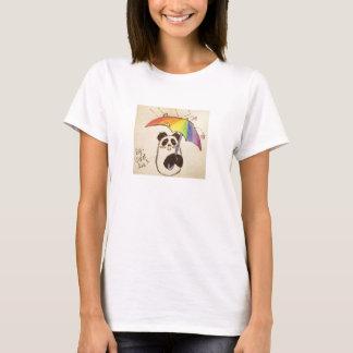 T-shirt il pleut la chemise de panda d'anime d'amour