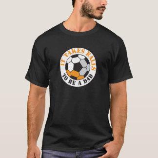 T-shirt Il prend des boules pour être un PAPA (le ballon
