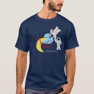 T-shirt Il y a une basse lune attrapée dans vos
