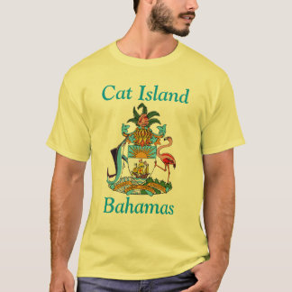T-shirt Île de chat, Bahamas avec le manteau des bras