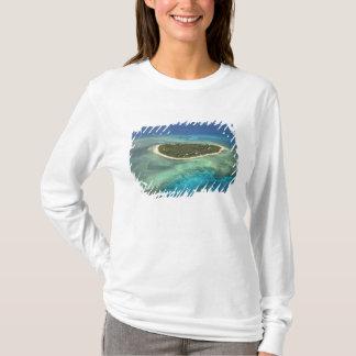 T-shirt Île de Tavarua et récif coralien, îles de Mamanuca