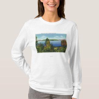 T-shirt Île d'Eagle et vue inférieure de lac Saranac