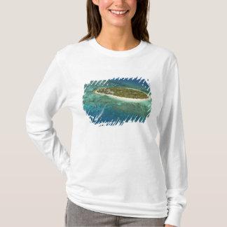 T-shirt Île-hôtel de trésor et bateau, Fidji