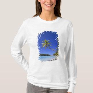 T-shirt Îles Cook rayées par paume de plage