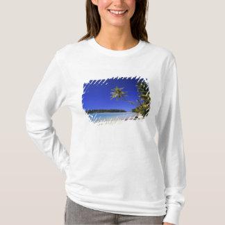 T-shirt Îles Cook rayées par paume de plage 5
