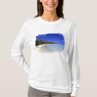 T-shirt Îles Cook rayées par paume de plage 8